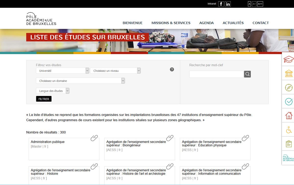 ALYS projet - Pôle académique de Bruxelles
